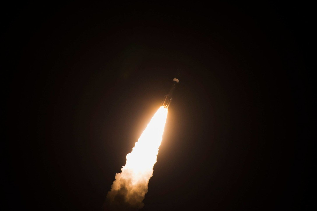United Launch Alliance's Atlas V AEHF-4 rocket successfully launched October 17, 2018 from Cape Canaveral Air Force Station, Fla. (Photo Credit:  Airman 1st Class Dalton Williams, USAF Space Command)