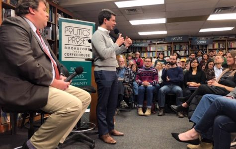 Unlikely presidential candidate Pete Buttigieg speaks at Politics & Prose