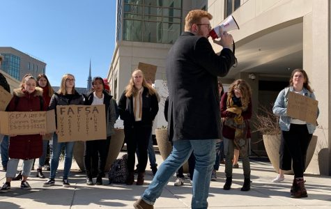 """College is a Debt Sentence"": AU students protest the Board of Trustees"