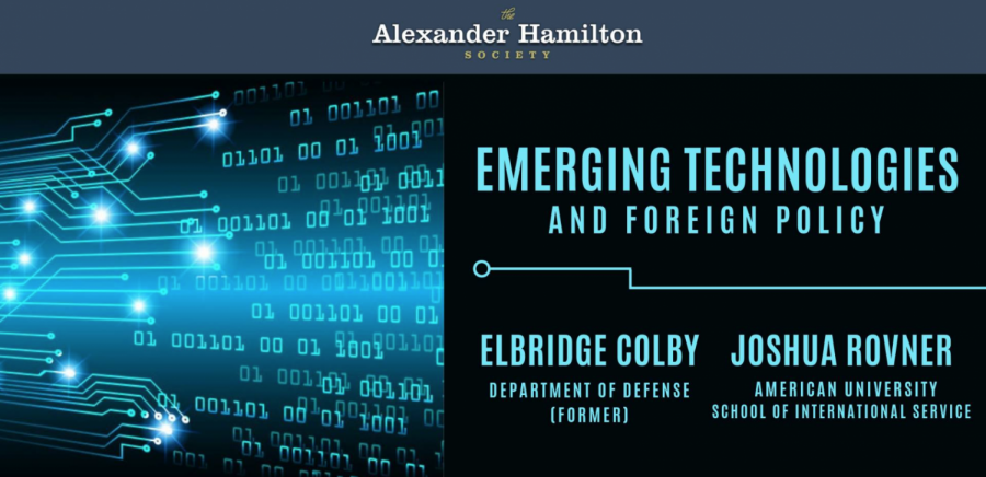 Alexander Hamilton Society holds 'Emerging Technology' debate