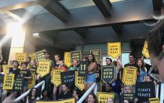 Climate Action Protesters Host Democratic Debate Watch Party at DNC Protest
