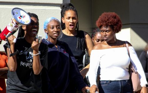 #HandsOffGianna: AU students protest in solidarity with black student pulled out of her room