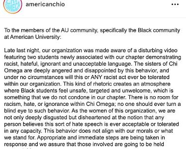 Two AU freshmen shown in social media video using racial slur