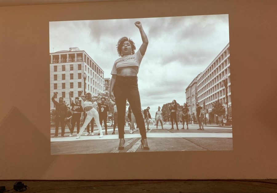 "The ""rise up."" photo exhibit brought the Black Lives Matter protests below ground"